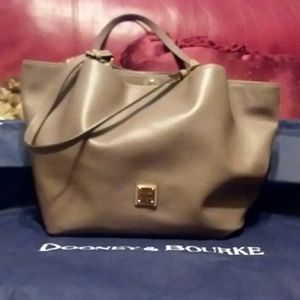 Dooney & Bourke Large Grey Leather  Bag